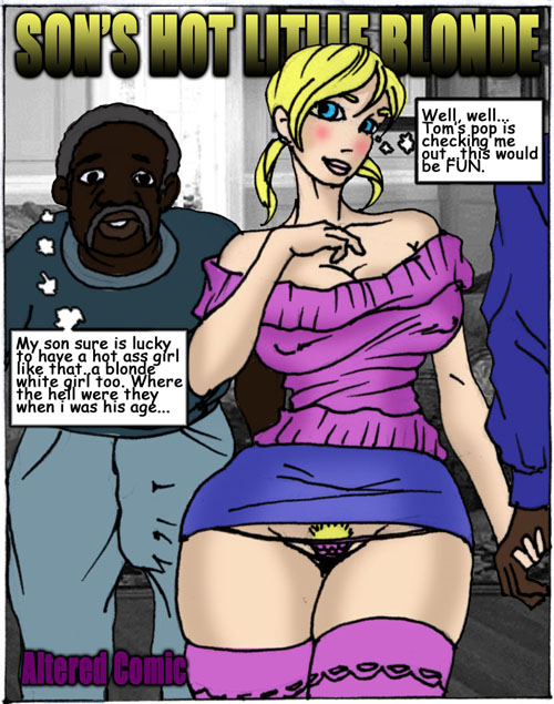 Interracial cartoon blacks blonde doesn't